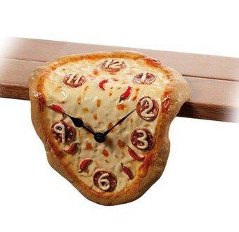 Orologio da mensola o scrivania a forma di PIZZA