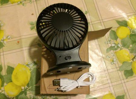 Muker ventilatore usb portatile con 2 velocità