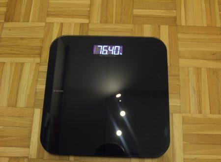 X-Sense bilancia digitale pesa persone con piano in vetro