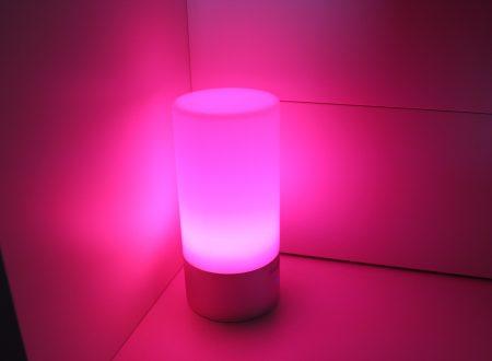 HandAcc lampada led da atmosfera a sfioramento con 256 colori
