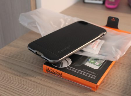 Spigen cover per iPhone 7 Neo Hybrid colore Gunmetal