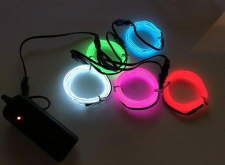 PsmGoods 5 colori per 1 metro ognuno di filo elettroluminescente (El Wire)