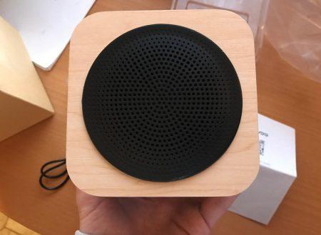 Avwoo speaker bluetooth minimalista in legno