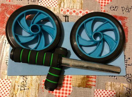 Gearmax attrezzo per esercizi addominali, doppia ruota da 16,5cm