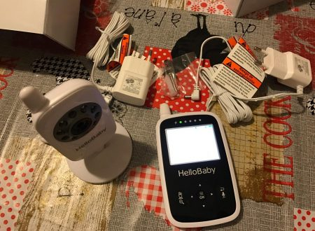 HelloBaby HB24 Baby monitor con video a colori e sensore di temperatura