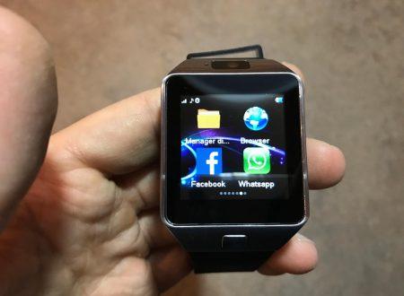 LaTEC smartwatch bluetooth con display 1,56 pollici e supporto sim
