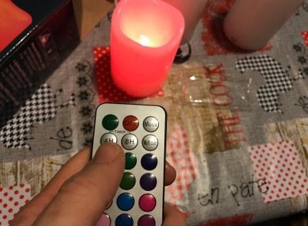 LE set di 3 candele led RGB di varie dimensioni con telecomando