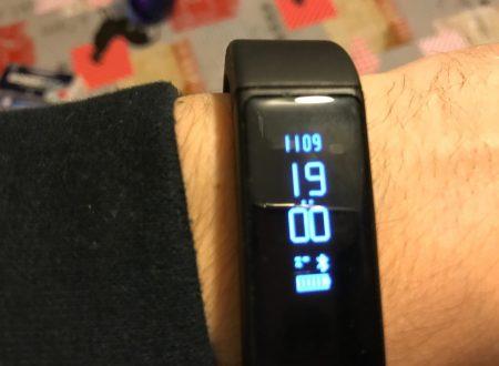 OMorc braccialetto smart con bluetooth, impermeabile IP65 compatibile iOS