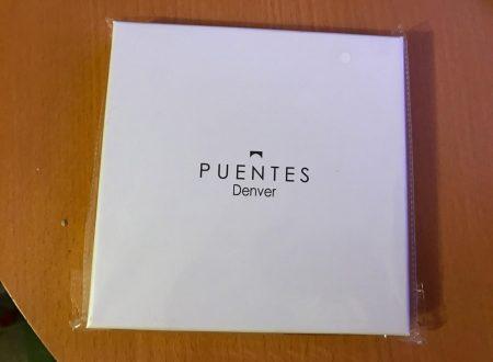 Puentes Denver fazzoletto da taschino bianco in twill di seta