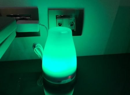 Yongse aroma diffusore e umidificatore da 120ml con luci led colorate