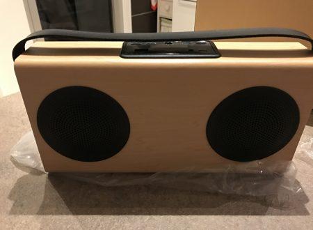 Avwoo diffusori audio bluetooth in legno con batteria da 4000mAh