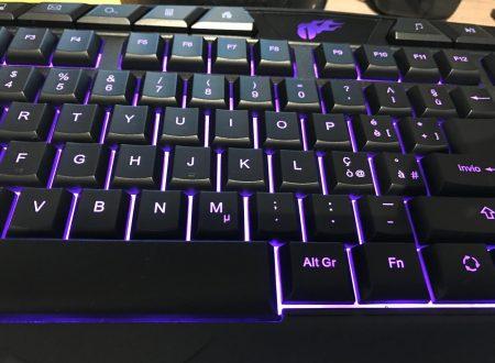 1byone tastiera gaming per computer a 114 tasti, retroilluminata