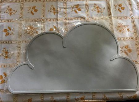 Cisixin piccola tovaglietta in silicone antiscivolo a forma di nuvola