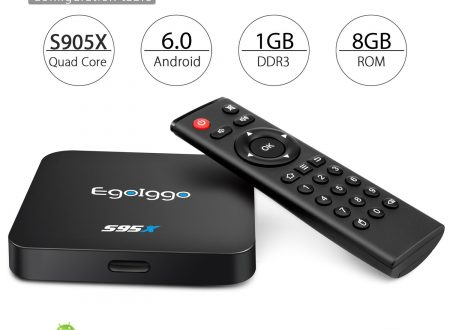 EgoIggo box Android 6.0 1Gb RAM + 8Gb ROM amlogic S905X quad core