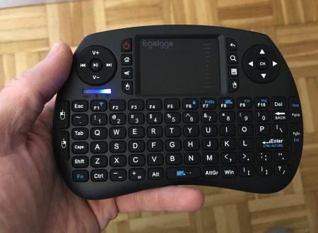 EgoIggo mini tastiera wireless con touchpad e batteria ricaricabile