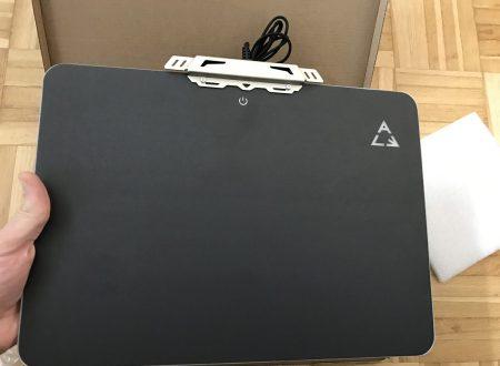Lemonda mouse pad 35x25cm con luci led RGB perimetrali