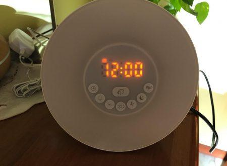 Bioxo radiosveglia con lampada led integrata per dolce risveglio