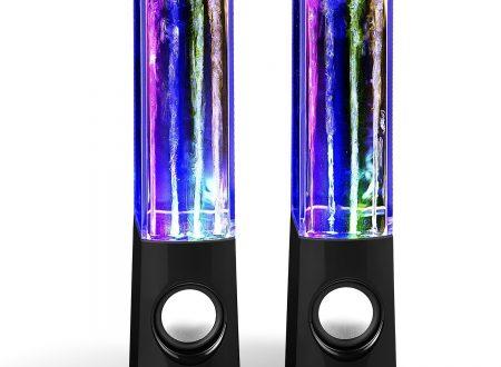 SoundSoul coppia di casse amplificate con giochi di luce e acqua