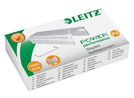 Leitz 1000 punti metallici P3, lunghezza gamba 6mm (fino a 30 fogli)