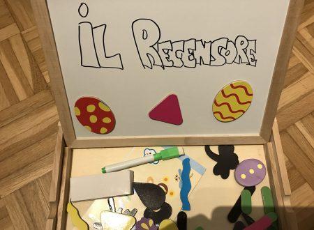 Itian lavagna magnetica con pennarelli, gessetti e formine con magnete