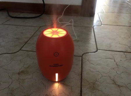 Yidarton piccolo diffusore di aromi da 180ml con luce led