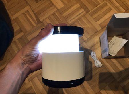Yidarton lampada led da comodino con batteria