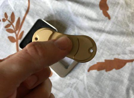 Infinitoo fidget spinner in metallo a 2 soli pesi