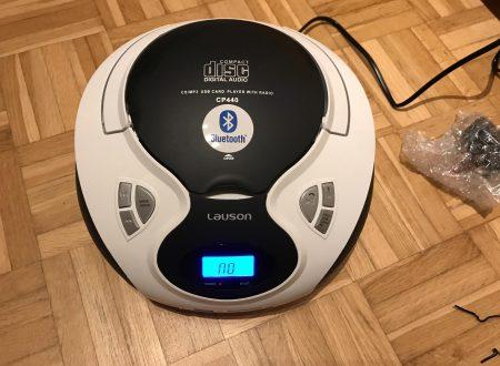 Lauson CP440 lettore CD con radio e casse integrate alimentabile a batterie