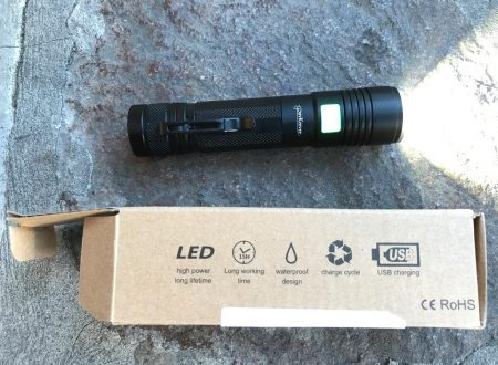 PovKeever torcia led ricaricabile usb CREE XPE2 R5 con batteria 18650 inclusa
