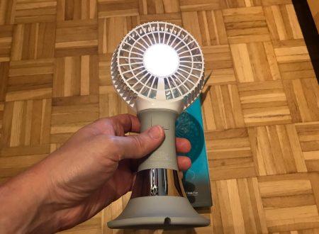 Tsumbay mini ventilatore portatile ricaricabile con luce di emergenza