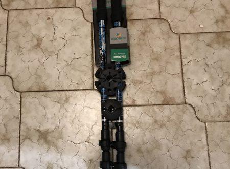 Brotree coppia di bastoni da passeggio estensibili con impugnature in schiuma