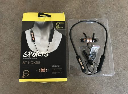 MoreFarther cuffie auricolari bluetooth per lo sport con retro magnetico