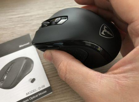 Victsing mouse wireless 2400dpi con ricevitore nano integrato