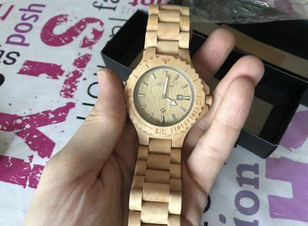 Bewell orologio da uomo in legno chiaro