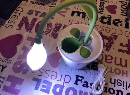 Sogocool lampada led a fiore con batteria e piccolo vano portapenne