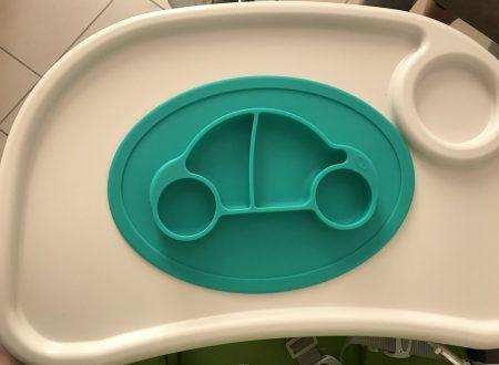 Qshare piatto-tovaglietta in silicone per seggiolone, per bambini piccoli