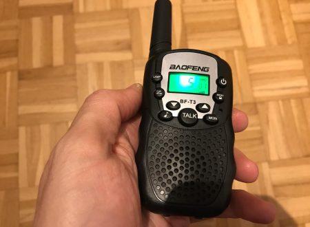 Baofeng coppia di walkie talkie per bambini a 22 canali fino a 3km