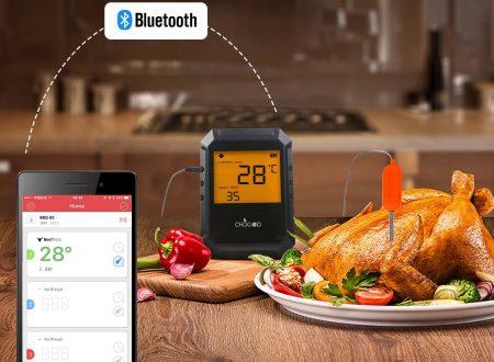 Chugod termometro alimentare bluetooth con 2 sondini in dotazione