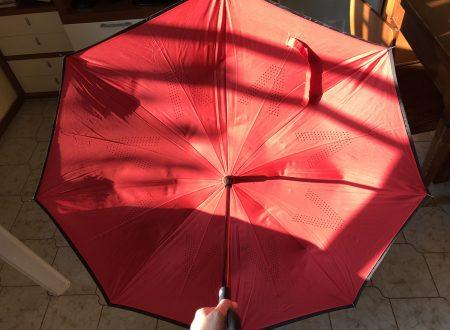 Velovendo V-brella ombrello inverso con doppio telo e impugnatura in gomma antiscivolo