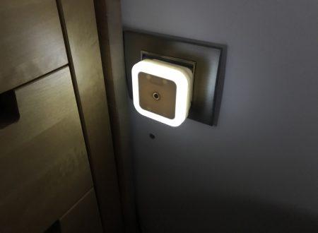 Tougo set da 4 lampade notturne plug-in con sensore di luminosità e regolazione automatica