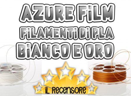 Azure Film filamenti per stampa 3d di qualità – PLA Bianco e PLA Oro
