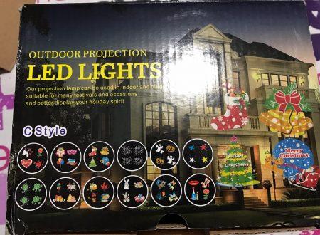 Sgodde proiettore di luci decorative per Natale ed altre occasioni