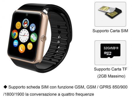 Willfull smartwatch Android con possibilità inserimento SIM