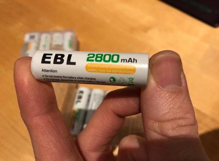 EBL confezione da 8 batterie AA stilo ricaricabili