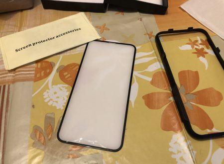 Bovon vetro di protezione per iPhone X con accessorio per l'applicazione