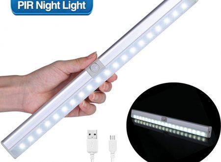 Glime lampada a led ricaricabile per armadi o sotto pensile