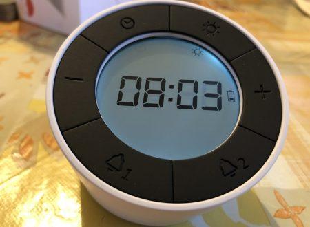 Glisteny orologio sveglia digitale con luce da notte