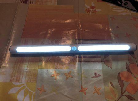 Glime luce per armadi rotonda con sensore di movimento con accensione a sfioramento